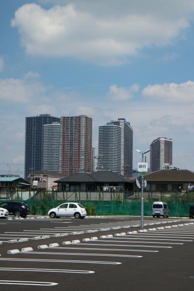新・川崎住宅公園から見た武蔵小杉の高層ビル群