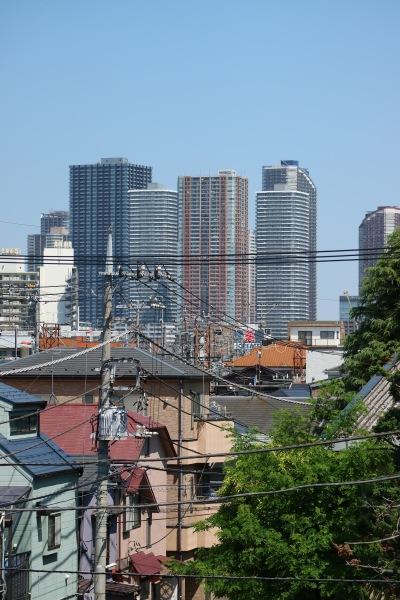 ANIMAMALLかわさきから見える武蔵小杉のタワーマンション