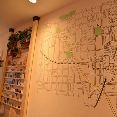 武蔵小杉周辺の壁面マップ