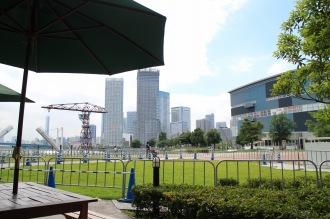 「ベル・オーブ豊洲店」から見える旧石川島播磨重工業のドック跡