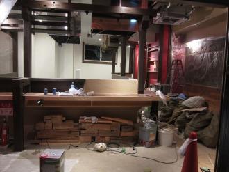内装工事中の「BISTRO30」