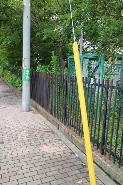 他の区画のフェンス