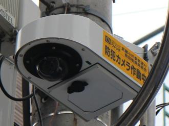 武蔵小杉駅周辺に設置された防犯カメラ