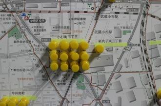 武蔵小杉駅周辺のピン