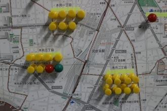 元住吉駅周辺のピン