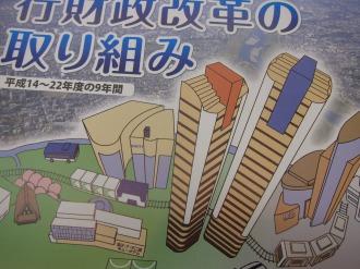 川崎市の「行財政改革の取り組み」パンフレット