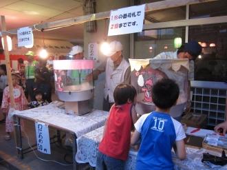 綿菓子の露店