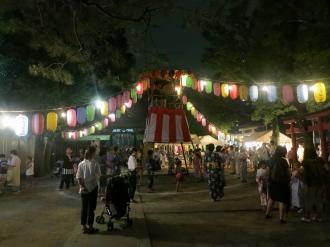 市ノ坪神社の盆踊り大会