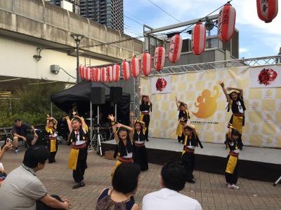 武蔵小杉の「舞祭」ダンスチーム「KSG48」のステージ