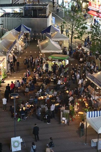 「ボンマルシェフェスタ」開催中の「こすぎコアパーク」