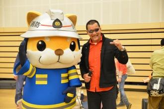 心臓マッサージスペシャルゲストのプロレスラー・蝶野選手