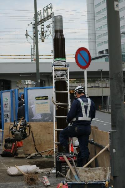 設置途中の受信設備