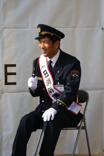 1日消防署長に就任・所英男さん