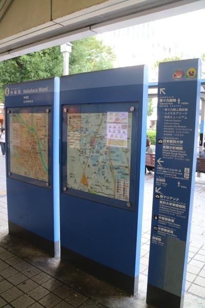 JR武蔵小杉駅北口の案内板