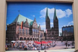 シャッターアート「ブレーメン市庁舎」