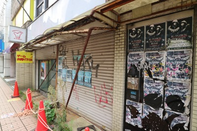 閉鎖が続いていた店舗スペース