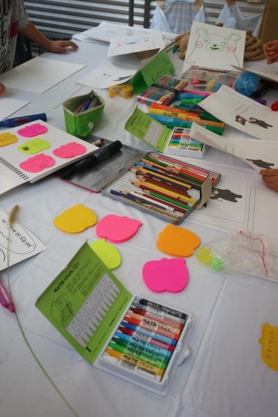 「とどろき学習室・よこはま学習室」のくまモンお絵かきコーナー
