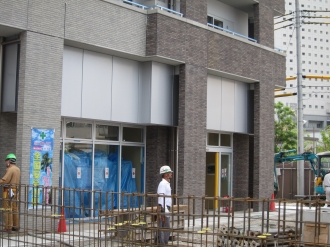 ブリリア武蔵小杉の1階店舗部分(西側)