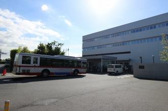キヤノン玉川事業所に到着した直行バス