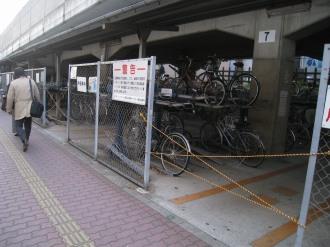 閉鎖された武蔵小杉第二駐輪場