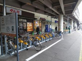 武蔵中原駅前歩道橋下駐輪場