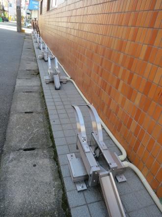 西側の駐輪スペース