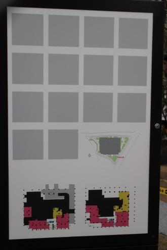 店舗区画の案内板