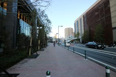 グランツリー武蔵小杉側の歩道状空地