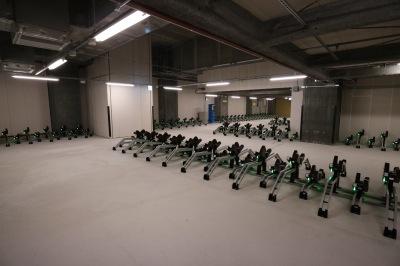 商業施設付属の駐輪場