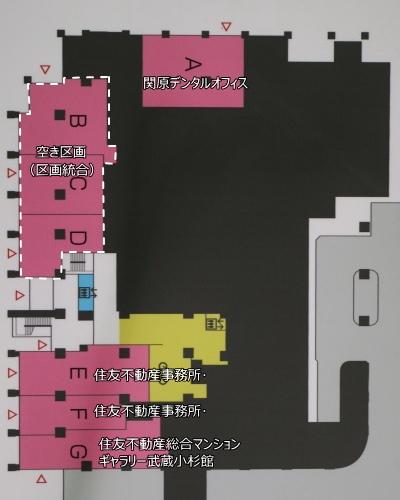 1階のテナント配置