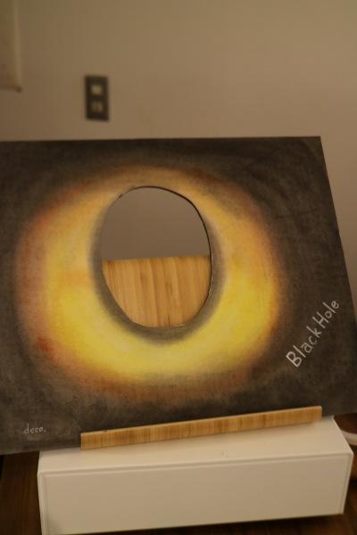 ブラックホールの顔ハメパネル