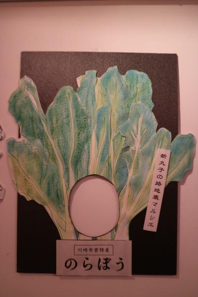 「のらぼう菜」の顔ハメパネル