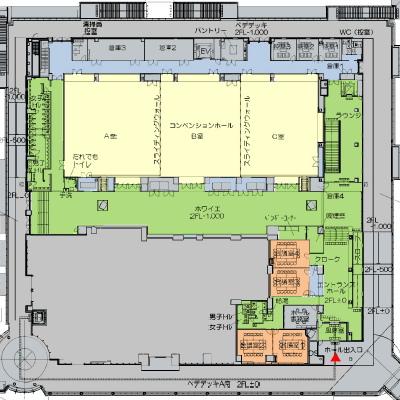 コンベンションセンターの平面図