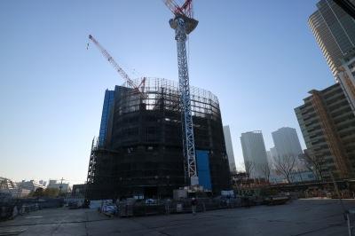 建物躯体が立ち上がりつつあるパークシティ武蔵小杉ザ ガーデン タワーズイースト