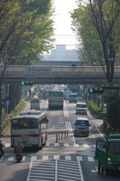 デッキから見た武蔵小杉駅北口方面