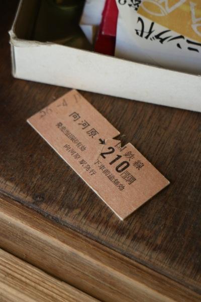 国鉄線 向河原駅からのきっぷ