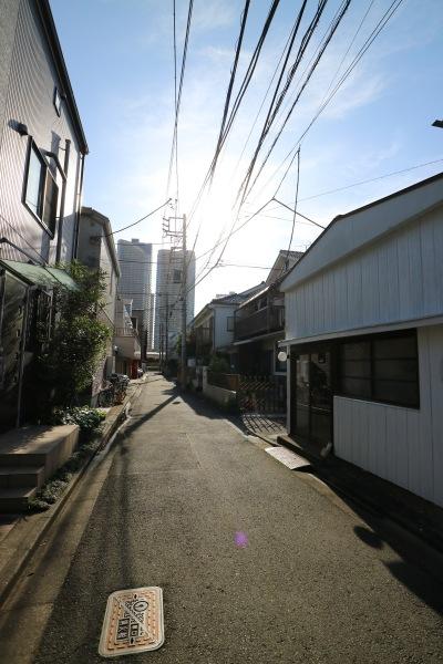 COYAMA前から見える武蔵小杉のタワーマンション