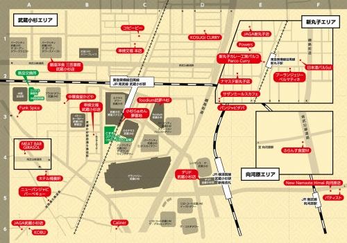 参加店舗のマップ