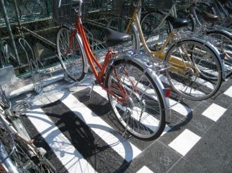 整備された駐輪設備