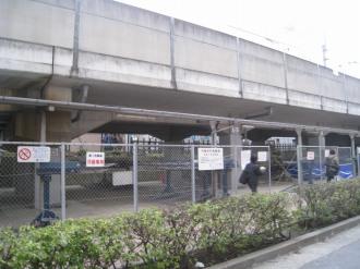 南武線高架下の武蔵小杉第2駐輪場