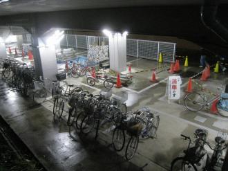 工事中の武蔵小杉第2駐輪場