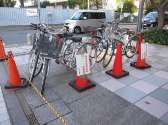 撤去予定自転車置場