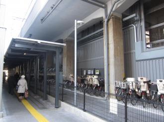 新駅前のJR武蔵小杉駅自転車第4駐車場