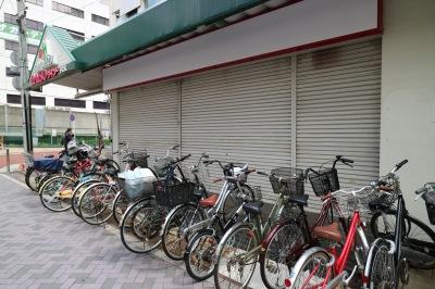 ダイソー前の放置自転車