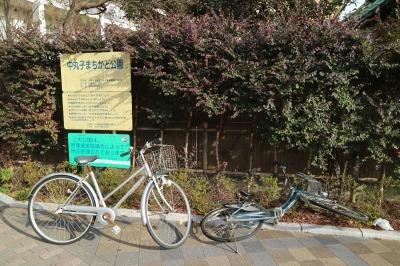 公園内の放置自転車