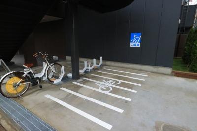 併設の駐輪場