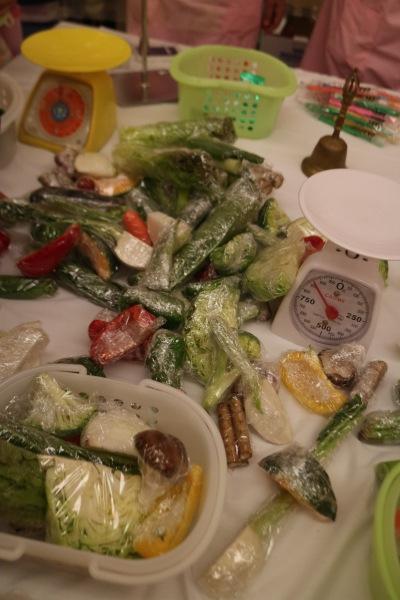 1日分の野菜計量