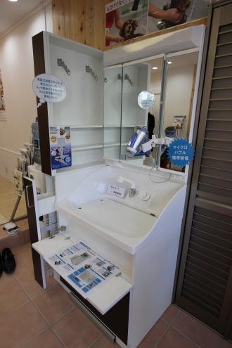 マイクロバブル標準装備のシャワー台「ボニート」