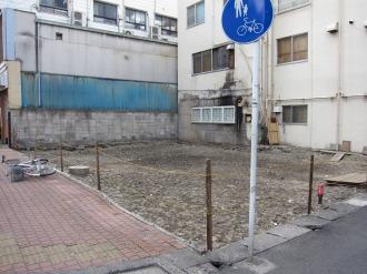 府中街道沿いの倒壊リスクがあった建物跡地