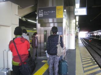 JR川崎駅南武線ホームのエレベーター